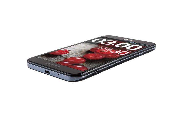 LG Optimus G Pro E980 LTE para México acostado color negro