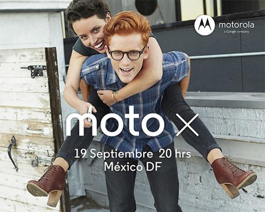Motorola Moto X en México presentación 19 de septiembre 20 horas