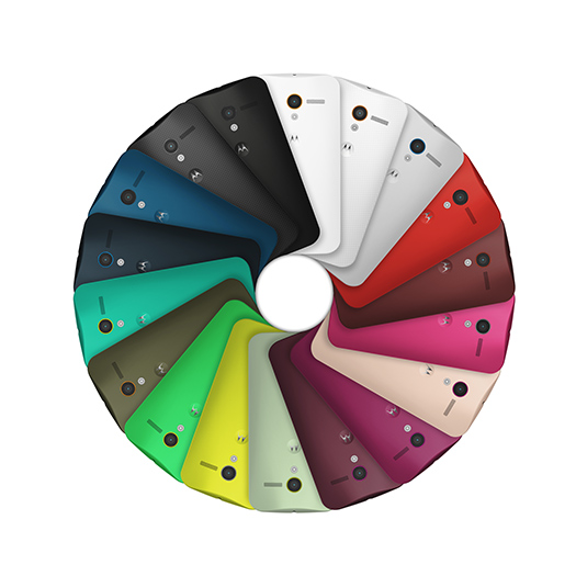 Moto X de Motorola y Google opciones de color