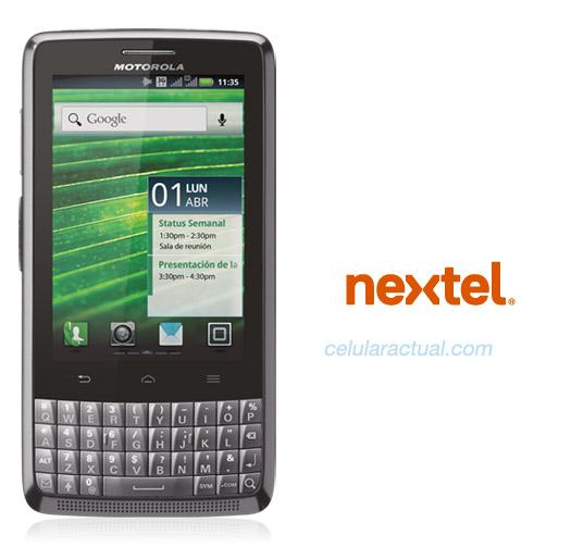 Motorola XT627 Kairos en México con Nextel Logos