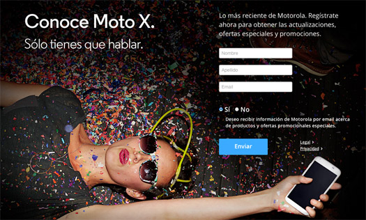 Moto X registro en México