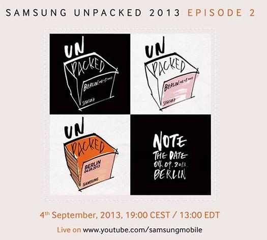 Samsung Unpacked 2013 Episode 2 4 de septiembre:  Galaxy Note III