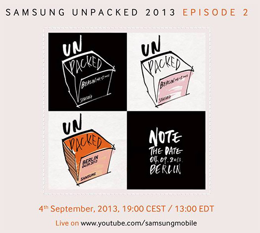 Samsung Invitación Unpacked 2013 Galaxy Note III