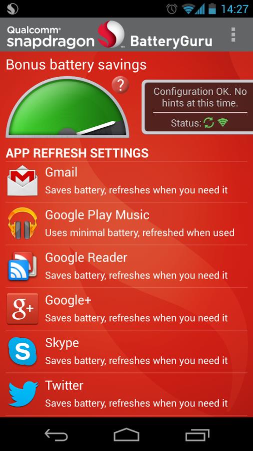 App Snapdragon BatteryGuru