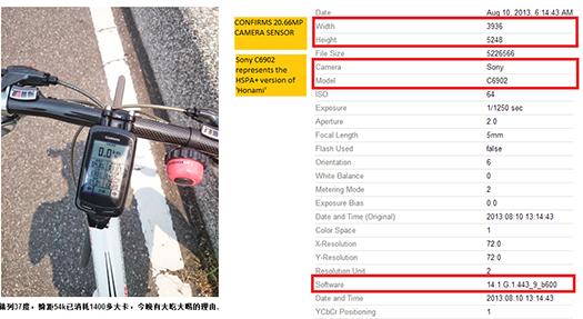 Sony Honami sample ejemplo picasa EXIF