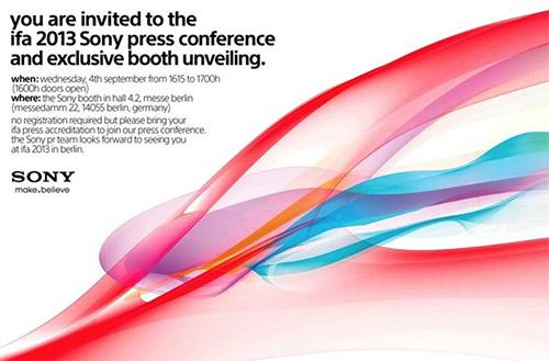 Sony Invitación 4 de septiembre en Berlín