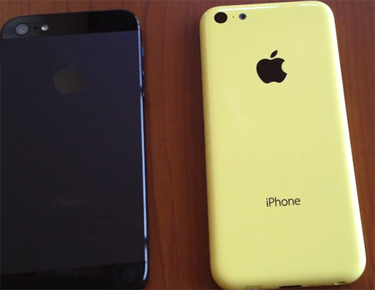 Video  iPhone 5C en amarillo comparación
