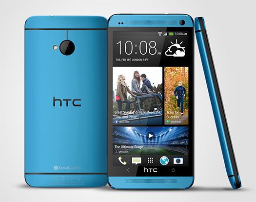 HTC One en color azul vívido Vivid Blue