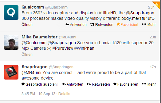 Qualcomm confirma Snapdragon 800 en Lumia 1520