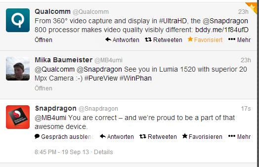 Qualcomm confirma Snapdragon 800 en Lumia 1520