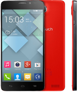 Alcatel One Touch Idol X color rojo