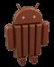 Android KitKat chocolate Logo Mascota oficial