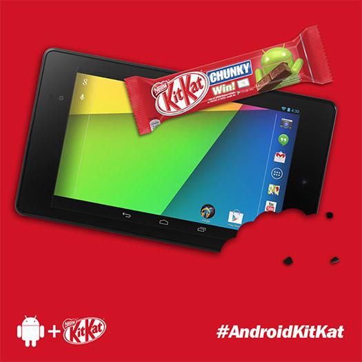 Android 4.4 KitKat bar Nexus 7 Nestle