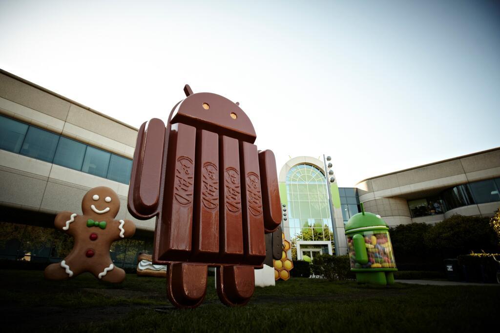 Android KitKat mascota en Edificio de Google
