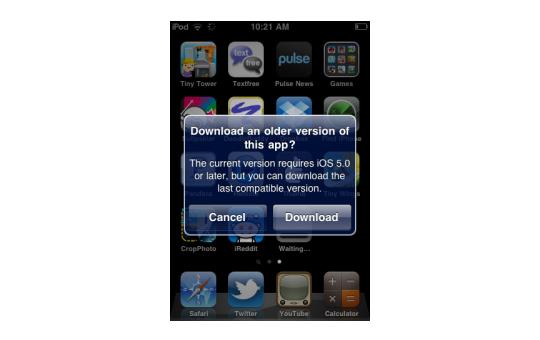 Apple habilita descarga de versiones antiguas de apps