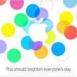 Apple envía invitación oficial para evento del 10 de septiembre: iPhone 5C y 5S