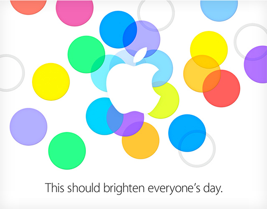 Apple  official invitation September 10 2013 iPhone 5C iPhone 5S