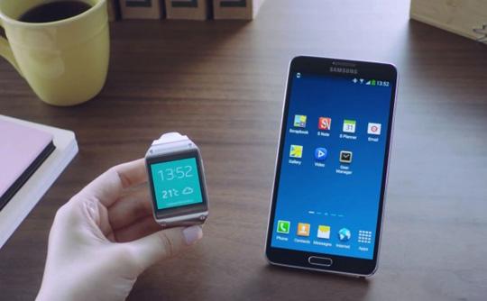 Samsung Galaxy Gear en funcionamiento