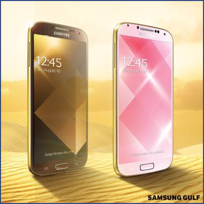 Galaxy S4 Gold Edition Rosa y Café - Gold Pink Gold Brown