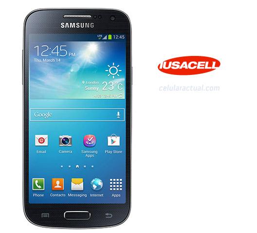 Samsung Galaxy S4 Mini en Iusacell logo