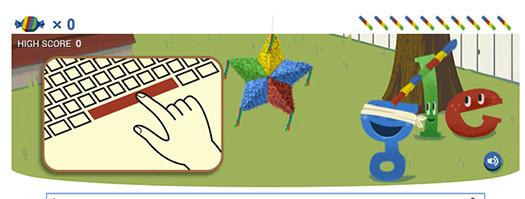 Google cumple 15 años Doodle Piñata y Pastel