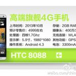 HTC One Max se develan especificaciones desde China