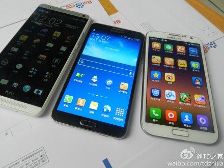 HTC One Max phablet con el Galaxy Note 3 y Galaxy Note 2