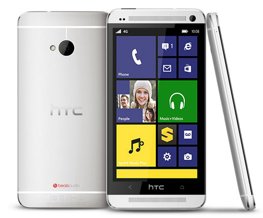 HTC One con pantalla Windows Phone 8