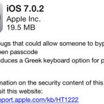 Apple lanza actualización iOS 7.0.2 para corregir seguridad