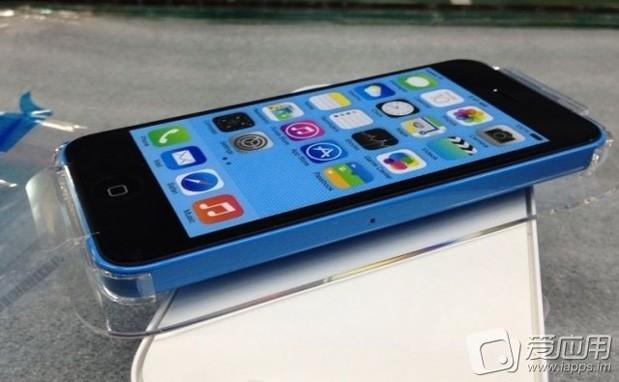 El iPhone 5C imágenes en su empaque final color azul