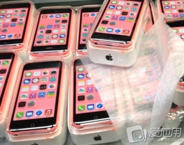 El iPhone 5C imágenes en su empaque final color rosa