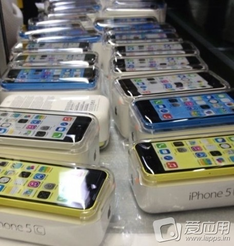 El iPhone 5C imágenes en su empaque final color rosa, azul, blanco y amarillo