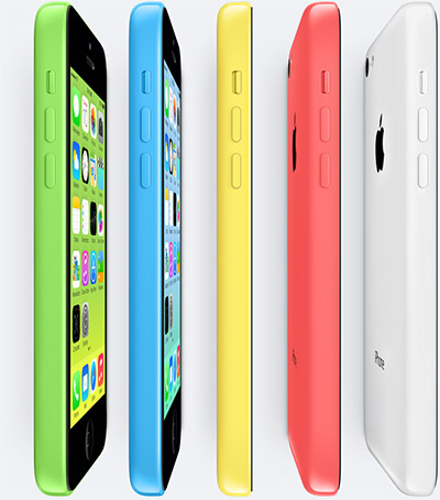 iPhone 5C oficial colores