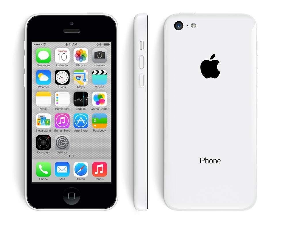 iPhone 5C de Apple en color blanco