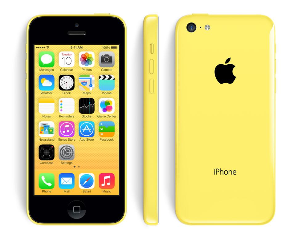 iPhone 5C de Apple en color amarillo