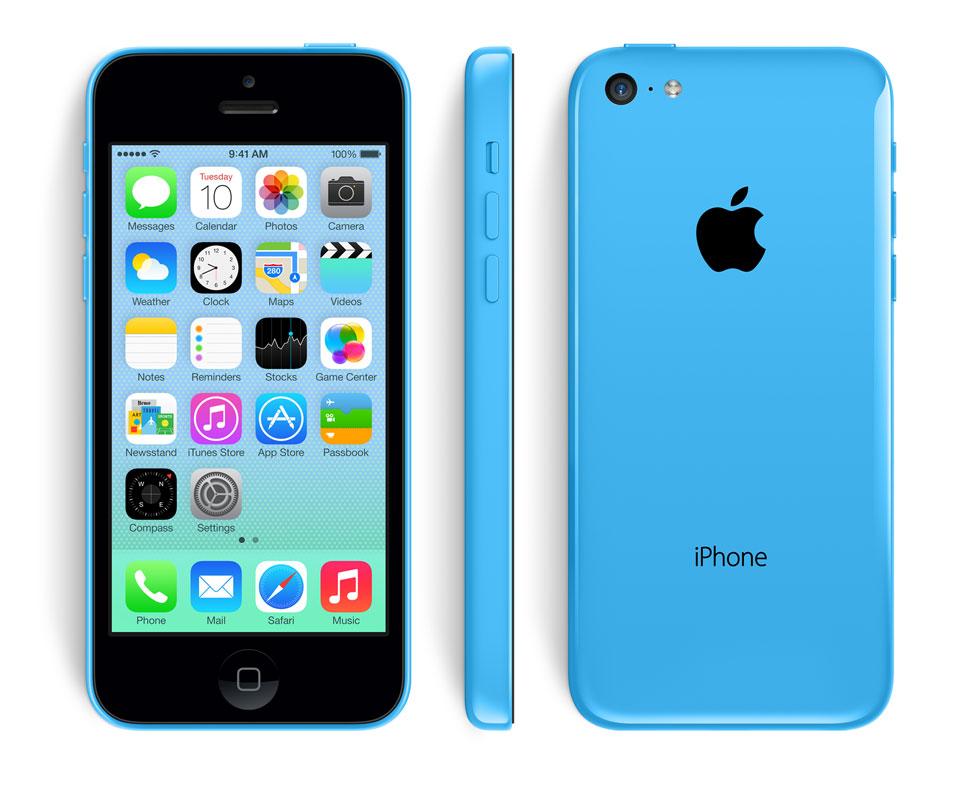 iPhone 5C de Apple en color azul