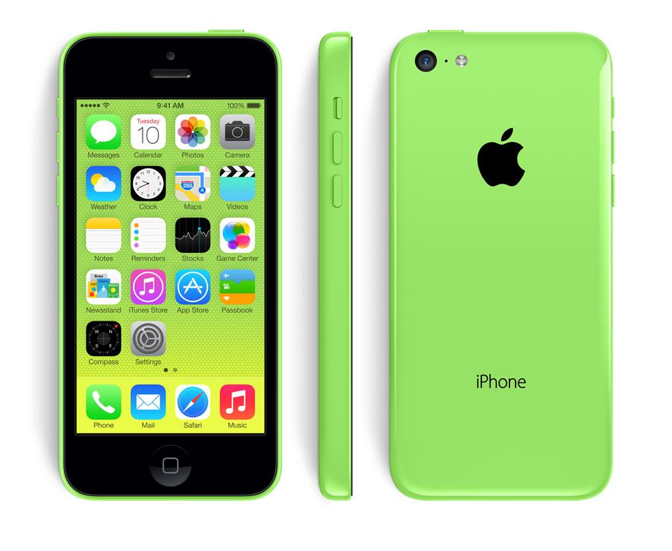 iPhone 5C de Apple en color verde