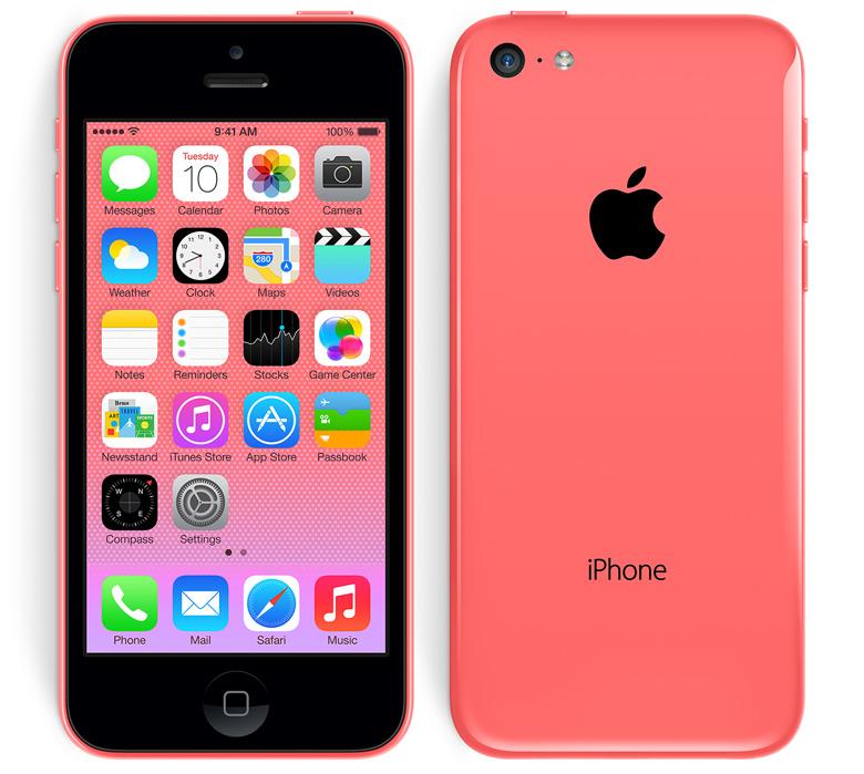 iPhone 5C de Apple color rosa