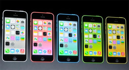 El iPhone 5C oficiales colores en presentación 10 septiembre