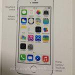 El iPhone 5S se muestra en manual con Touch ID Sensor previo a presentacion