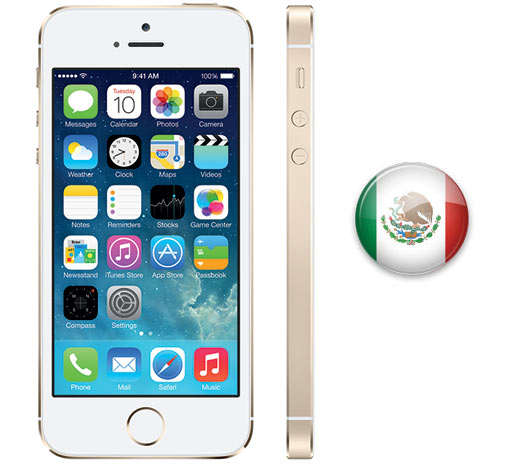 iPhone 5S  en México bandera