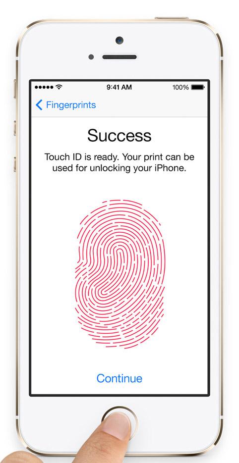 iPhone 5S lector de huellas digitales Touch ID sensor