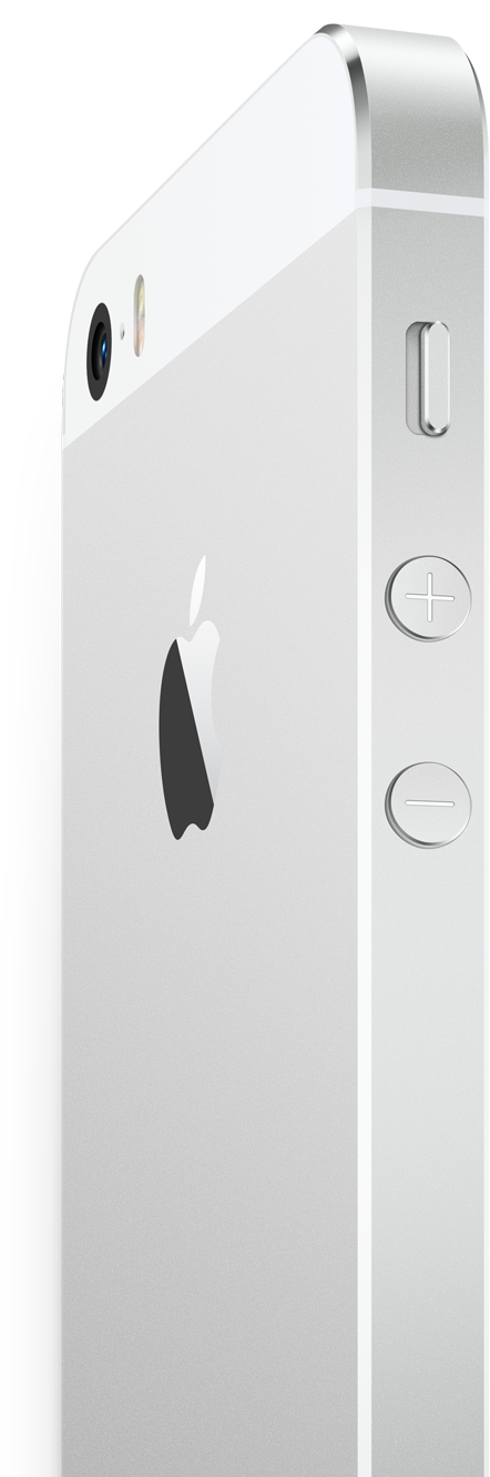 Apple iPhone 5S color plata botones