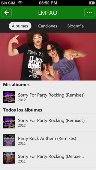 Xbox Music en iOS