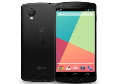 Nexus 5 en imagen oficial de prensa y especificaciones