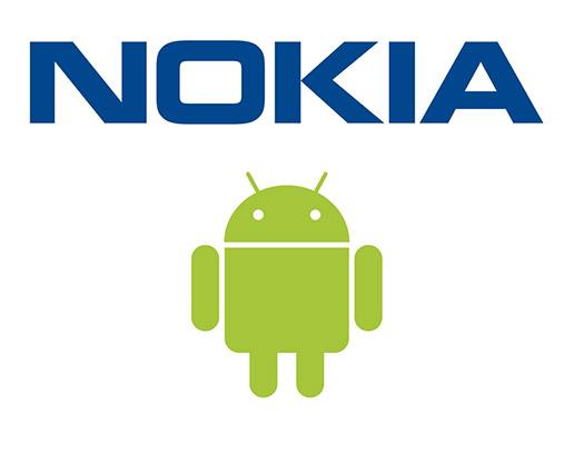 Nokia con Android Logos