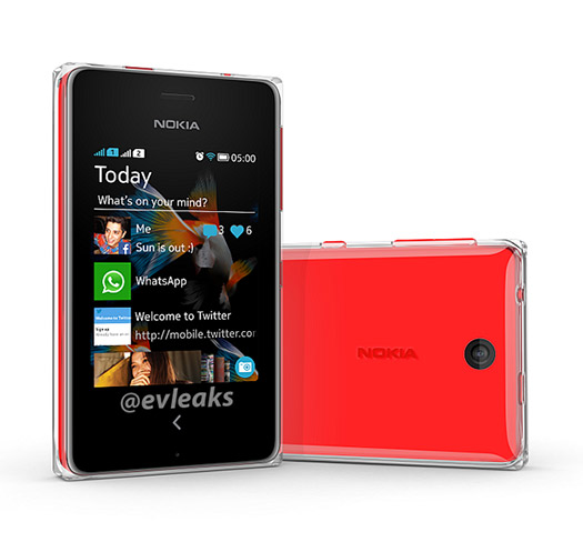 Nokia Asha 500 con protección transparente