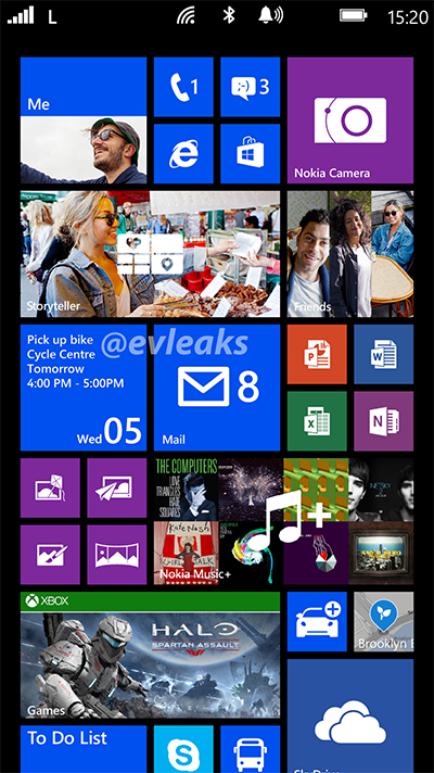 Nokia Lumia 1520 Bandit phablet Live Tiles screenshot