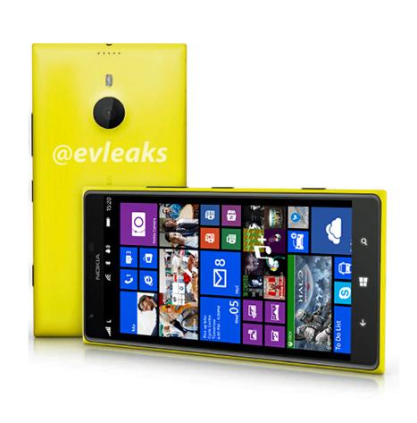 Nokia Lumia 1520 phablet render oficial amarillo