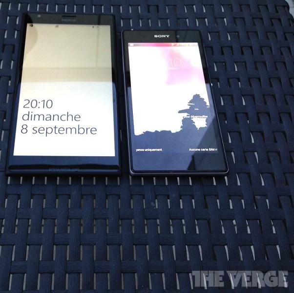 El Nokia 1520 phablet contra Sony Xperia Z1